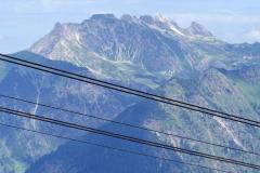 Das Nebelhorn, fotografiert von der Mittellstation der Fellhornbahn