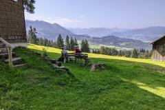 Blick von Oberried, Sonthofen in Richtung Kleinwalsertal