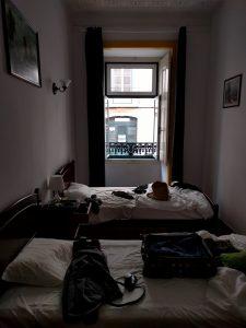 Unser Zimmer in Lissabon