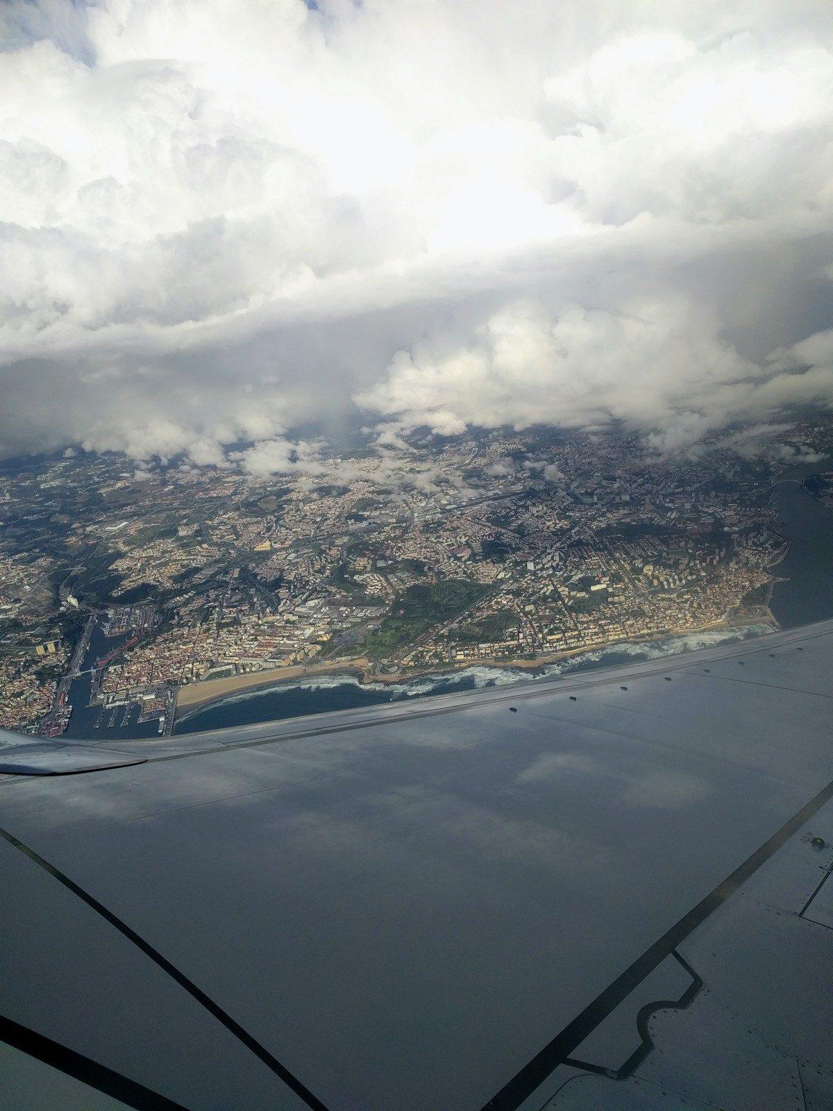 Das gab es noch gratis zum Abschied: Porto von oben