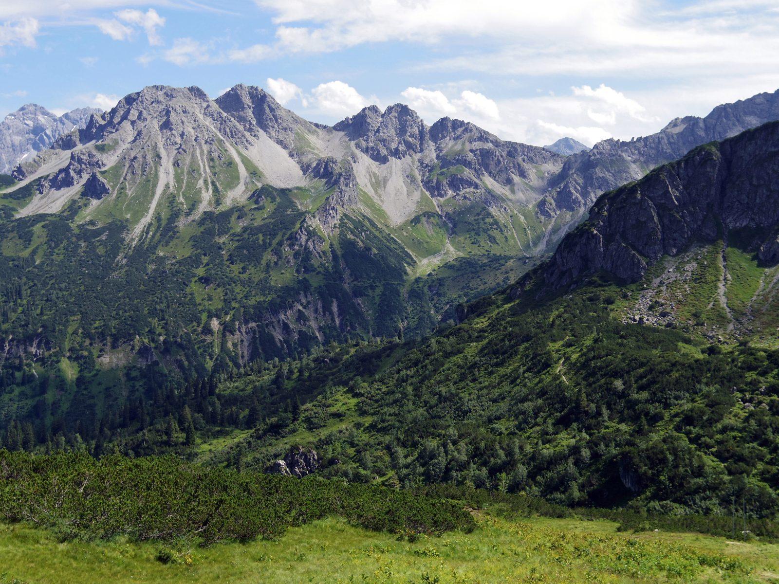 Die Bergwelt in den Allgäuer Hochalpen